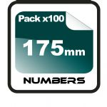 17.5cm (175mm) Race Numbers - 100 pack